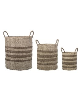 Bloomingville Striped Natural Baskets - 3 Sizes