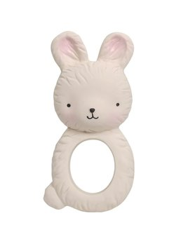 Little Lovely White Bunny Teething Ring