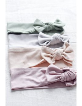 Mini Bretzel Bamboo Bow Headband - Color Choices