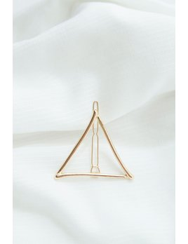 Belmto Barrette Triangle Or