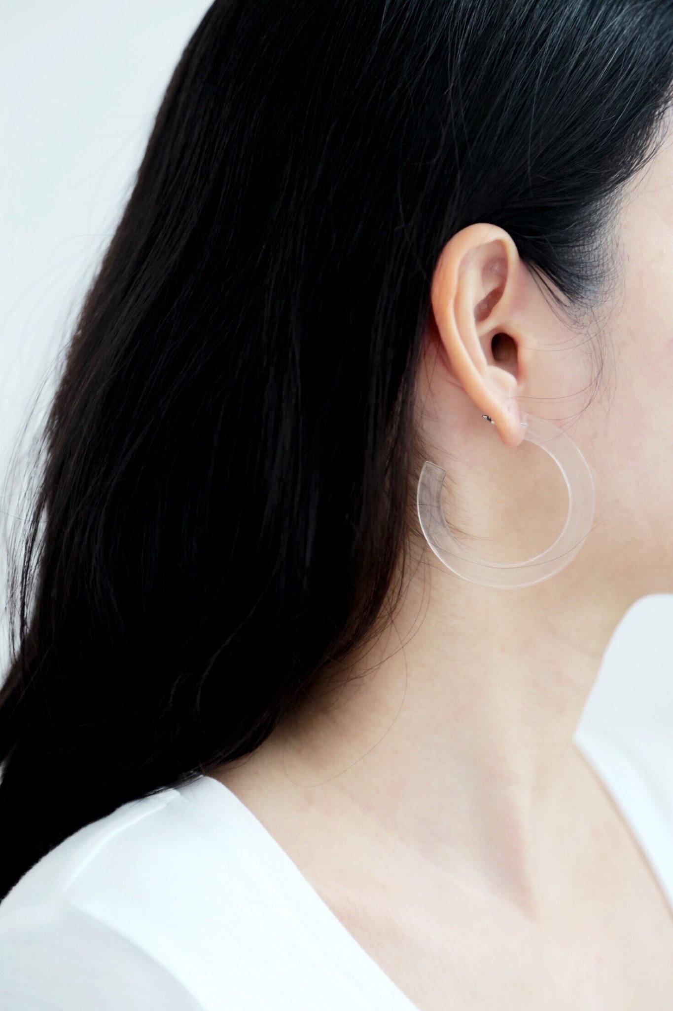 Belmto Boucles D'oreilles Acrylique Claire