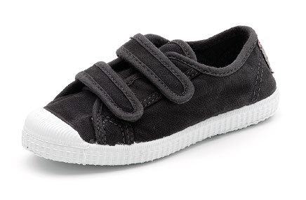 Cienta Chaussures Velcro Noir