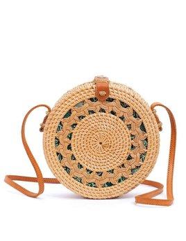 Amerii Natural Braided Rattan Bag