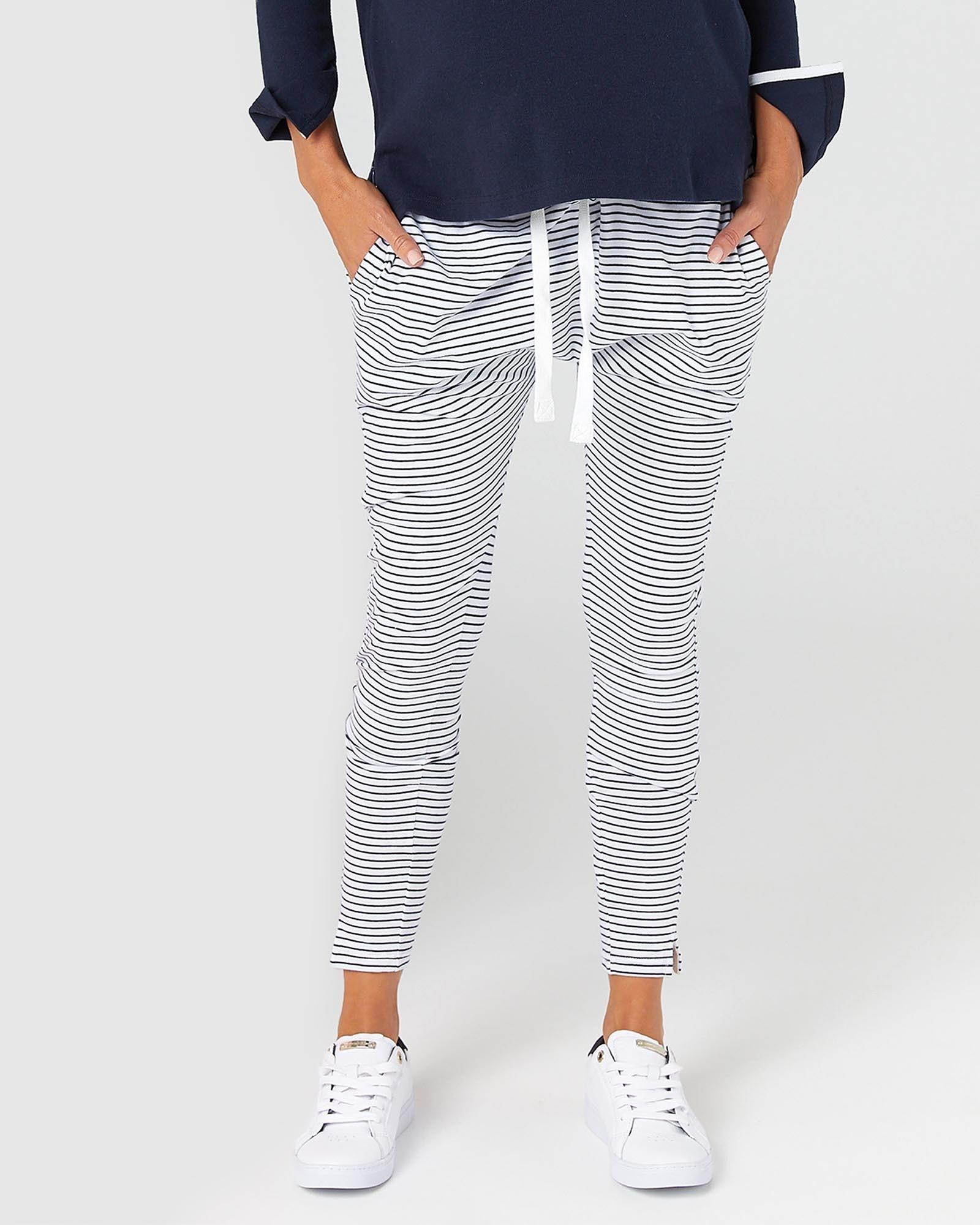 Legoe Navy Striped Lounge Pants