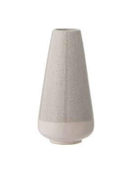 Bloomingville Grey and White Stoneware Vase