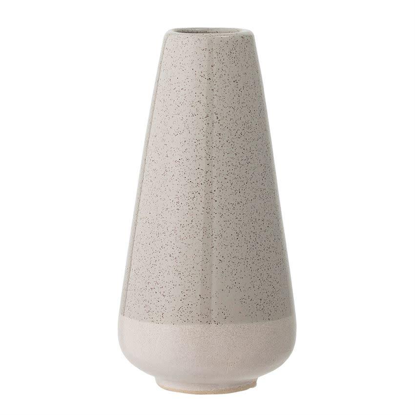 Bloomingville Grey and White Stoneware Vase