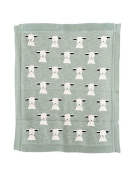 Bloomingville Mint Lamb Blanket