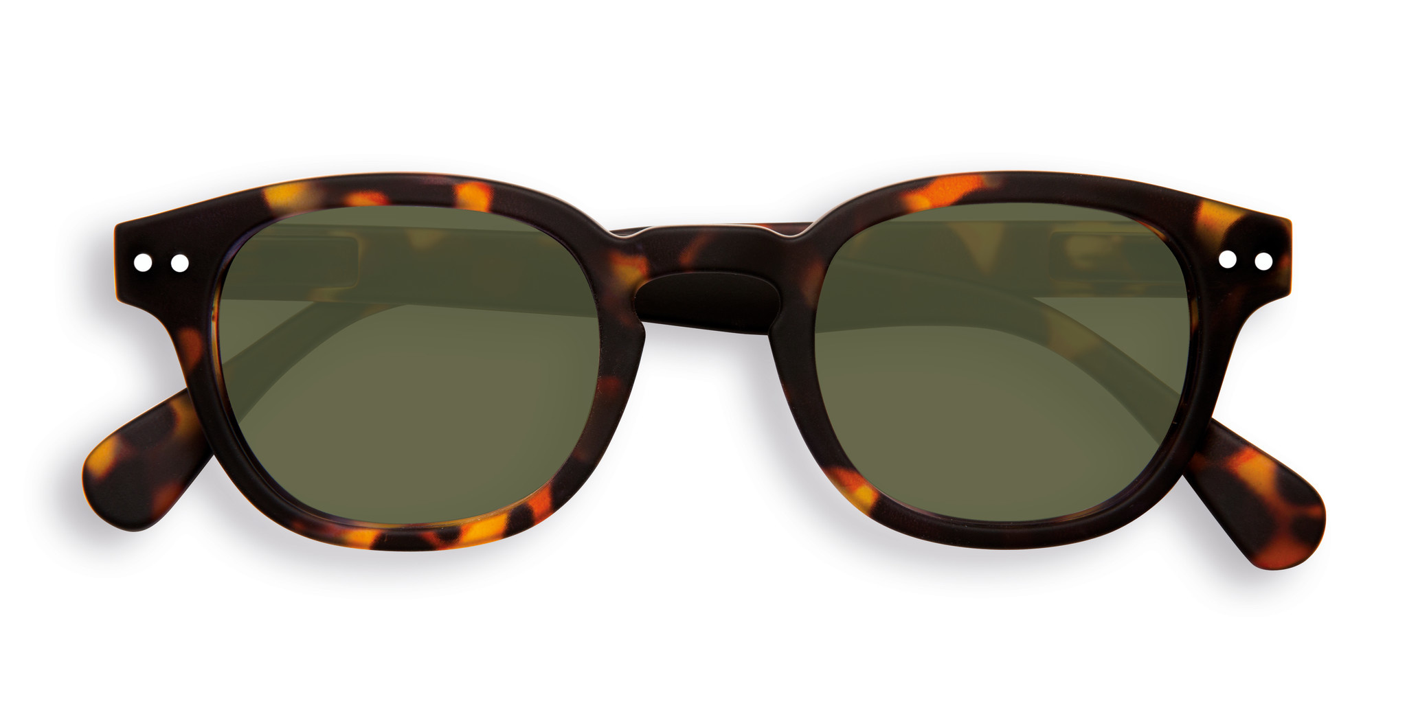 Izipizi Tortoise & Green Sunglasses