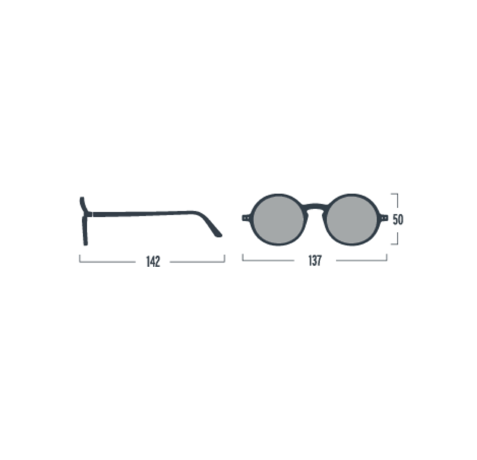 Izipizi Blue Tortoise Retro Sunglasses
