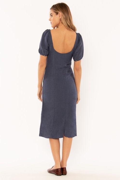 Amuse Society Indigo Buttons Dress