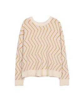 Frnch Mustard Chevrons Sweater