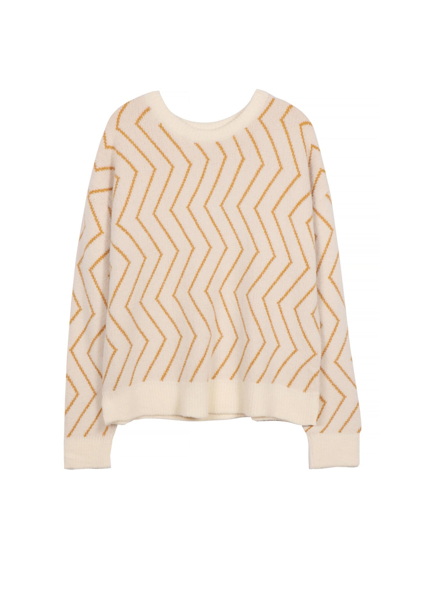 Frnch Mustard Chevrons Sweater