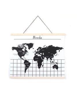 Gautier Studio Affiche Carte du Monde