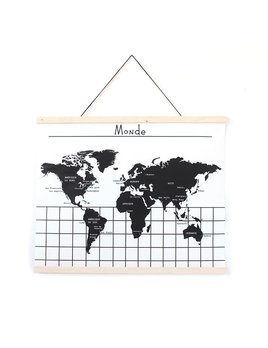 Gautier Studio Hanging World Map