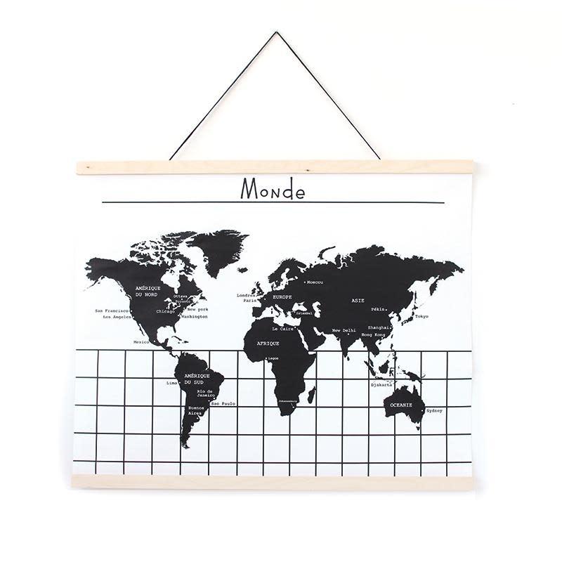 Gautier Studio Hanging World Map