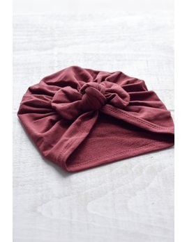 Mini Bretzel Baby Bow Premium Turban - Multiple Colors