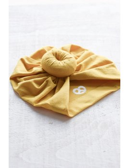 Mini Bretzel Yellow Baby Turban