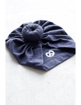Mini Bretzel Navy Blue Baby Turban