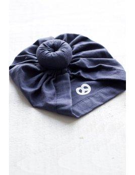 Mini Bretzel Turban Bébé Bleu Marin