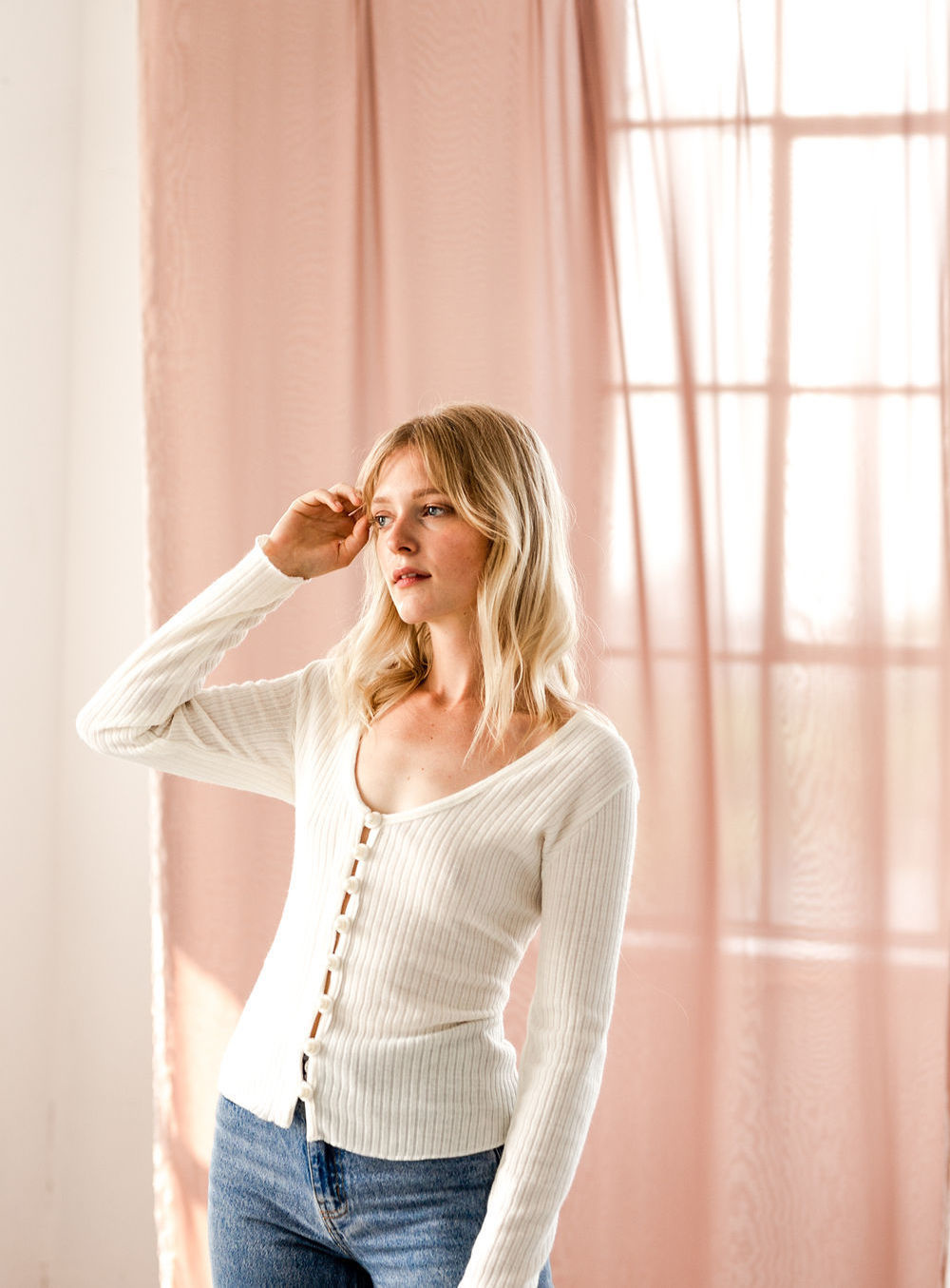 Essentiels Co Pearl Cardigan