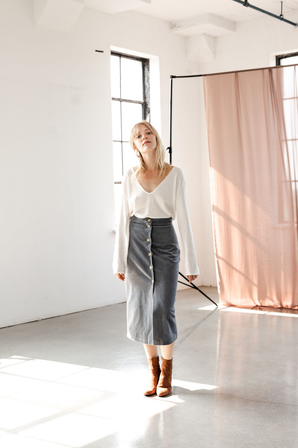 Essentiels Co Ava Buttons Skirt