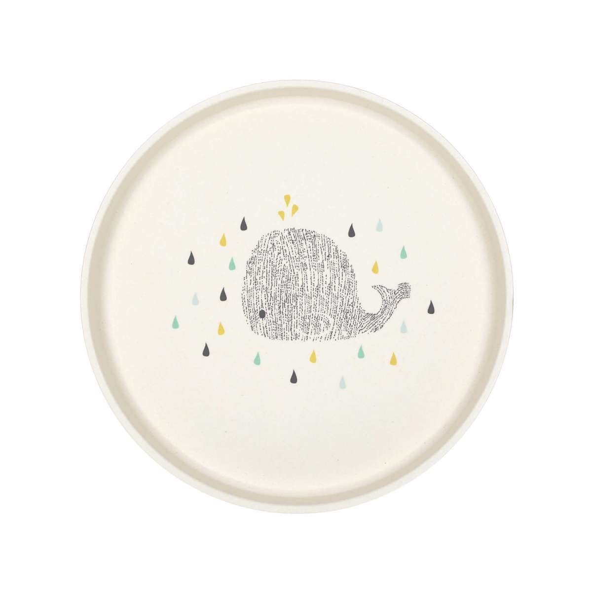 Lassig Water Whale Bamboo Plate