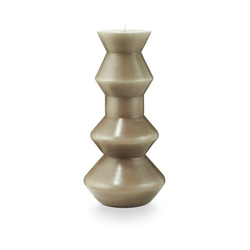 Medium Buff Pillar Candle