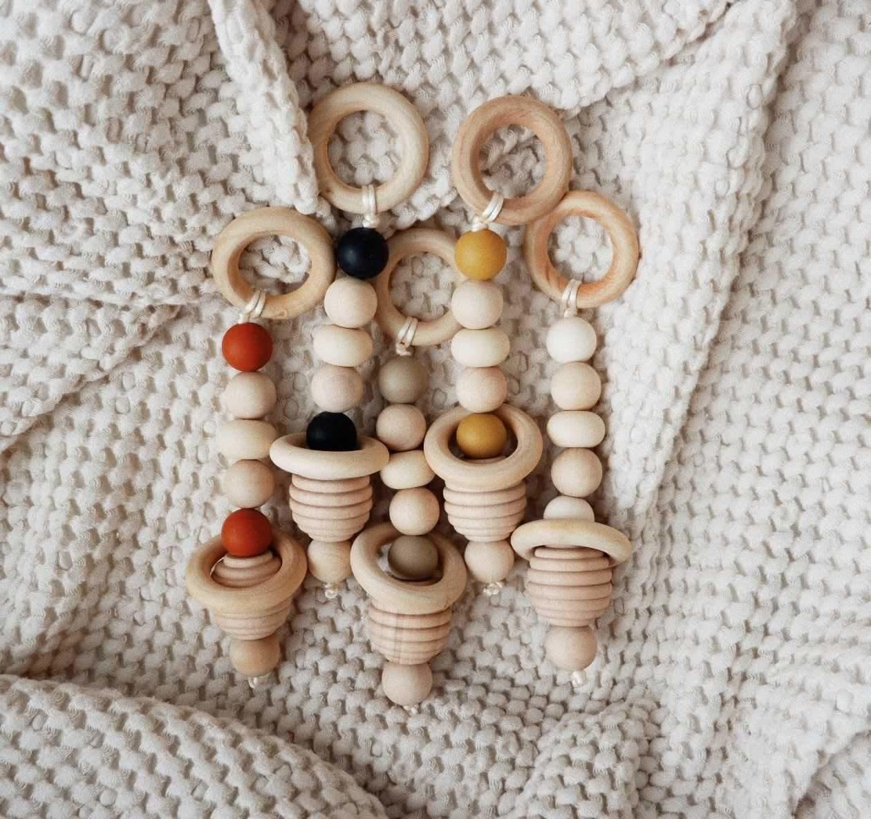 Minika Hand Rattle - Multiple Colors
