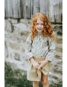 Little Joy by Melissa Lajoie Barboteuse Fleurie Sauge