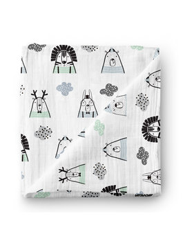 Olé Hop Mint Starry Night Bamboo Swaddle