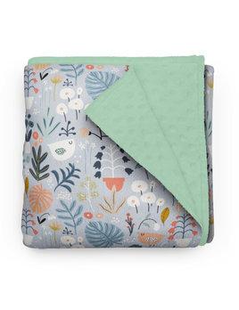 Olé Hop Floral Garden Minky Blanket