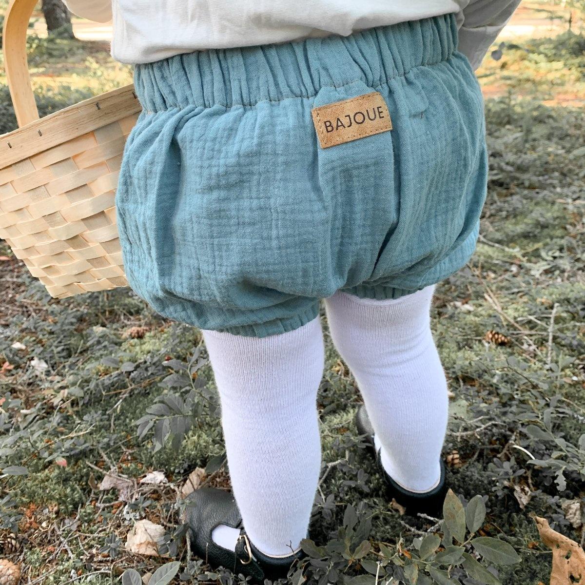 Bajoue Pastel Blue Puff Shorts