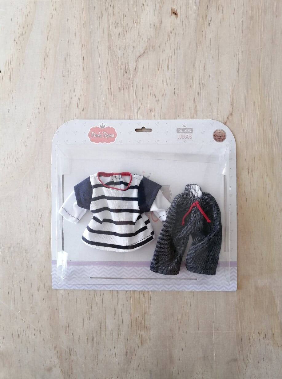 Paola Reina Jeans and Striped Top Doll Set