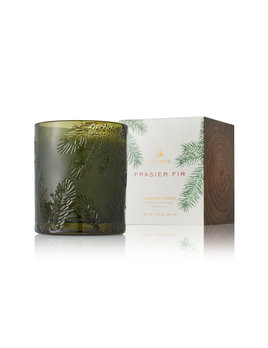 Thymes Green Glass Fir Candle