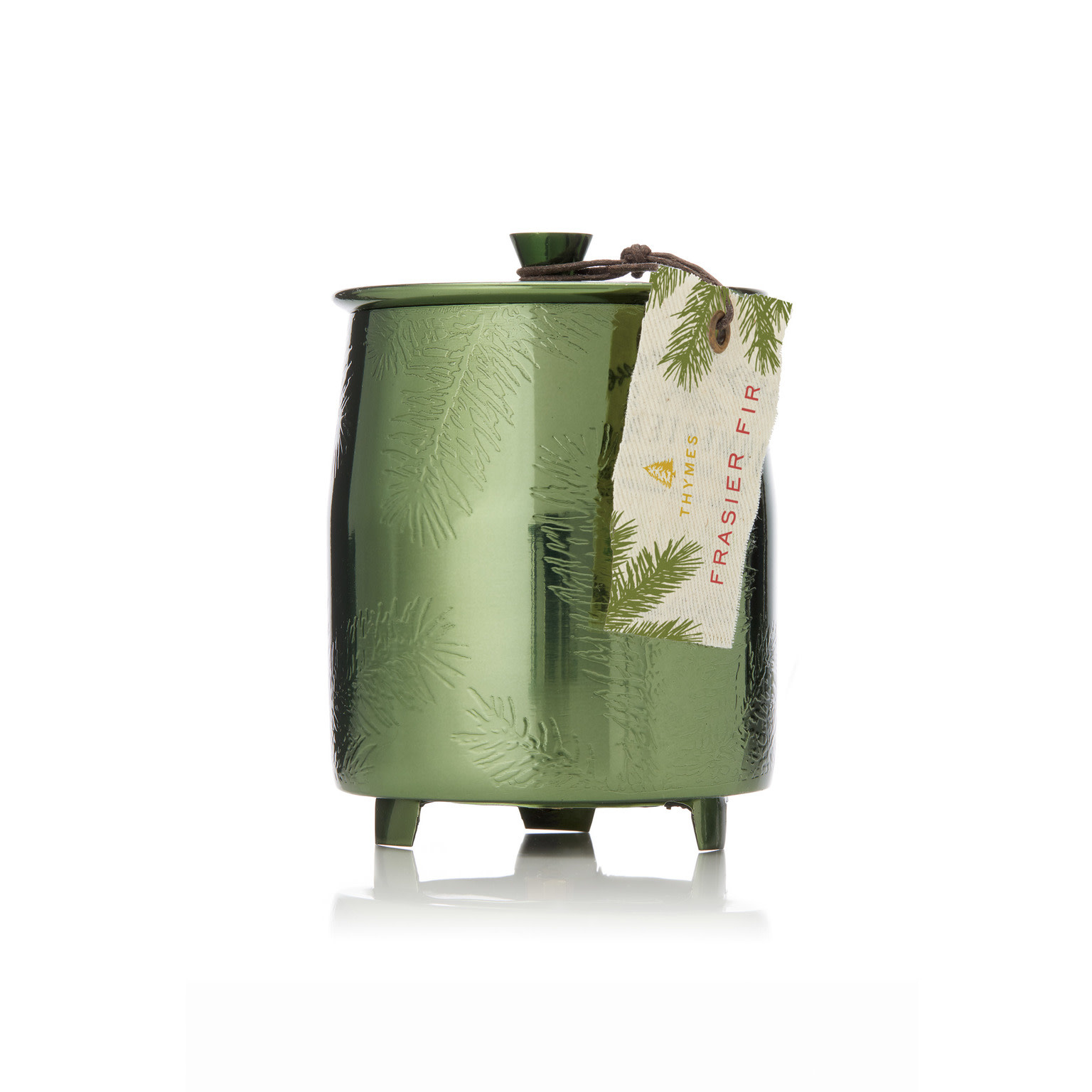 Thymes Green Metal Fir Candle