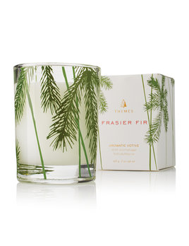 Thymes Small Glass Fir Candle