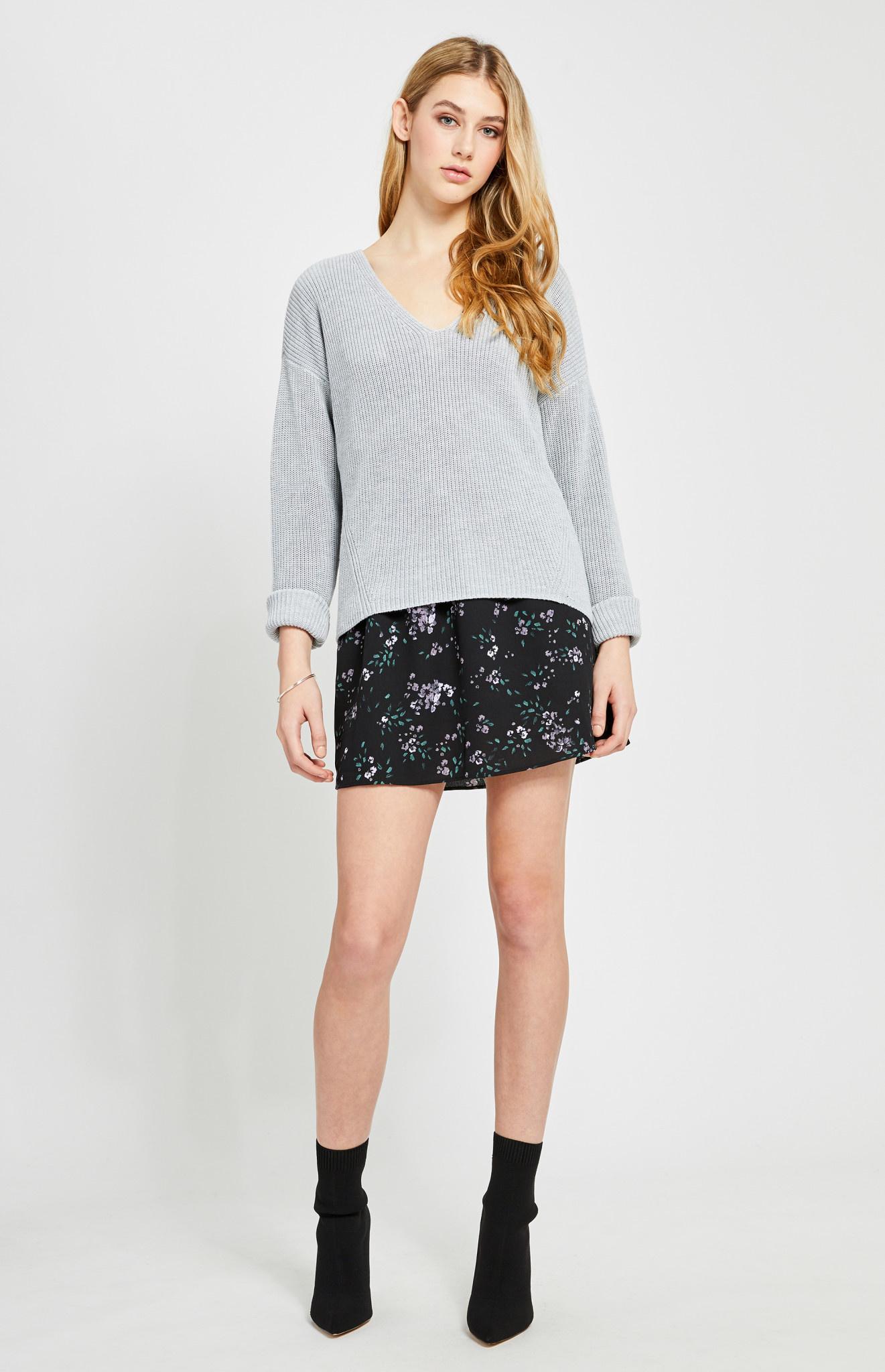 Gentle Fawn Grey Tucker Sweater