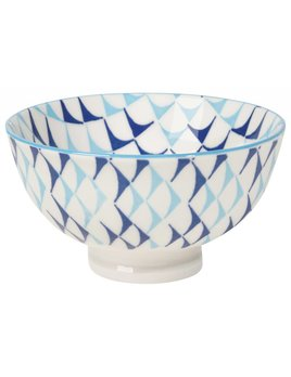 Blue Triangles Small Bowl