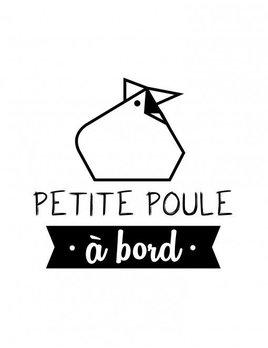 Maman Poule Petite Poule A Bord Sticker