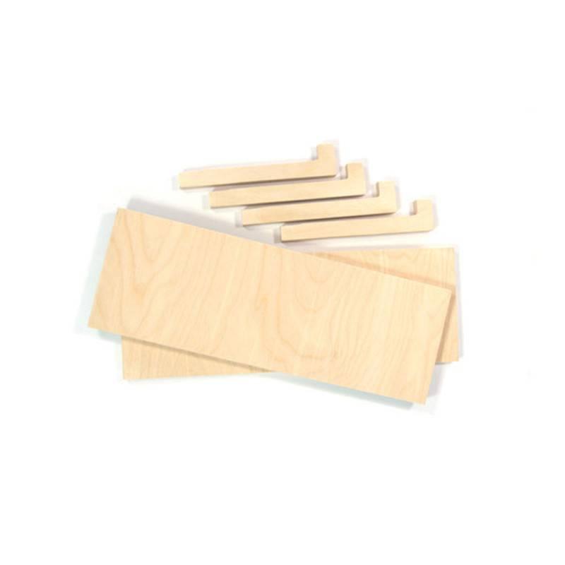 Gautier Studio Carambina Natural Wood Shelves