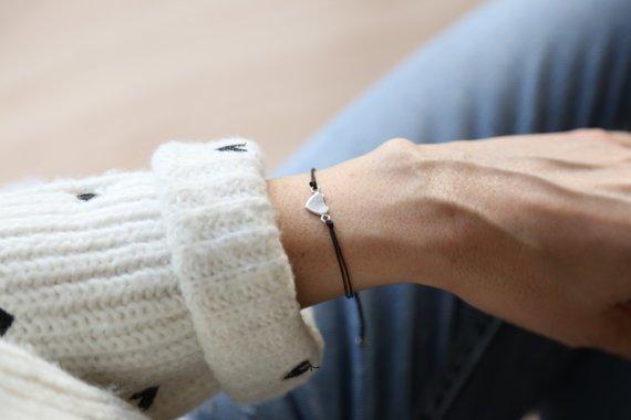 Si Simple Bracelet Coeur Plein