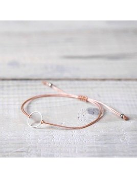 Si Simple Silver and Pink Marilou Bracelet