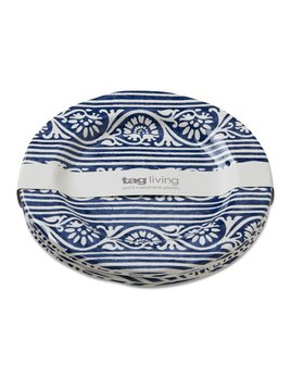 Design Home Assiette Salade Bleue