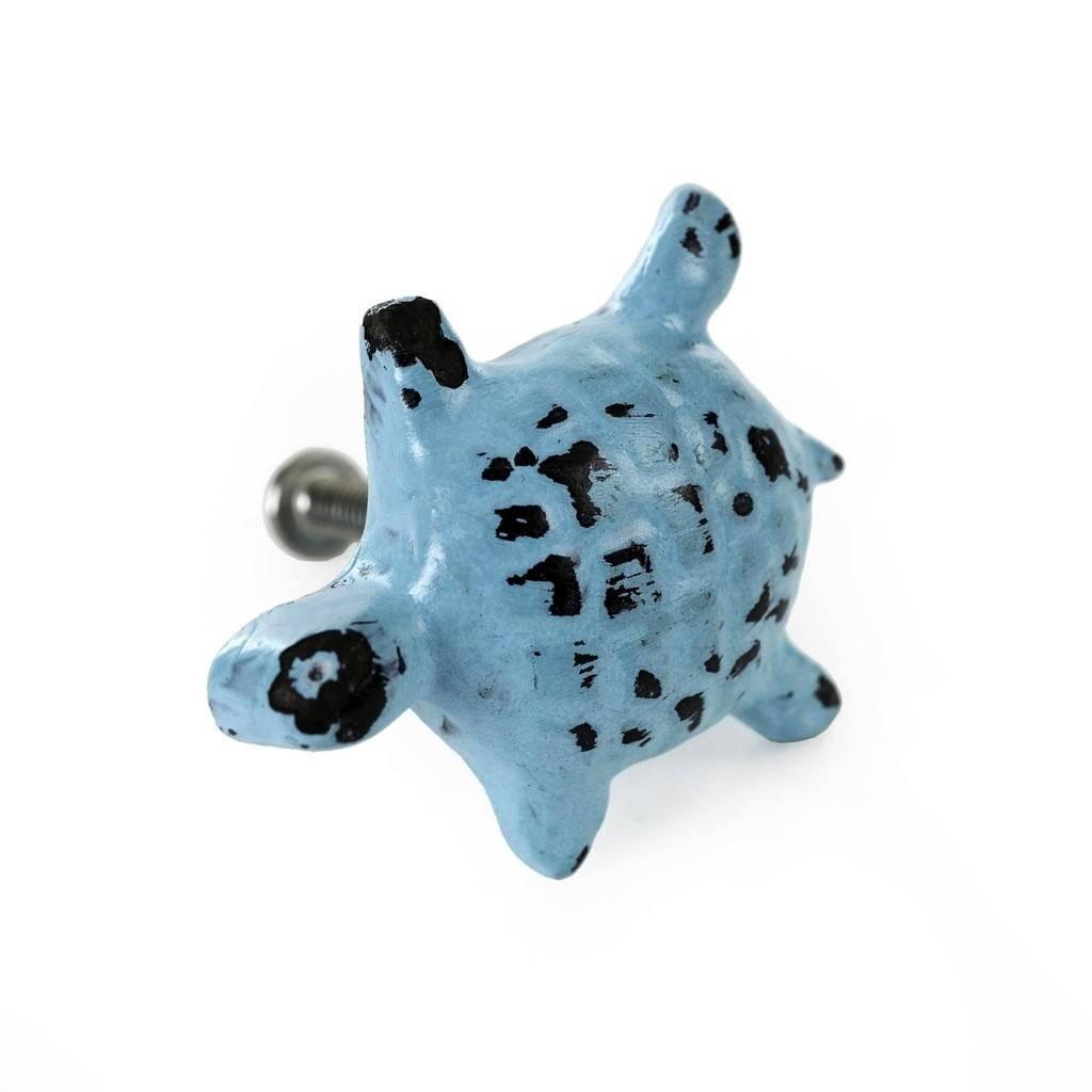 Indaba Pastel Blue Turtle Knob