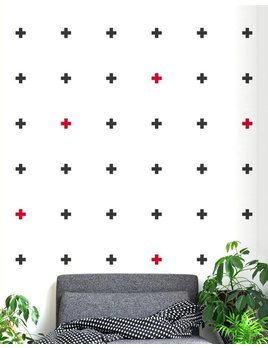 A D ZIF Cross Wall Sticker