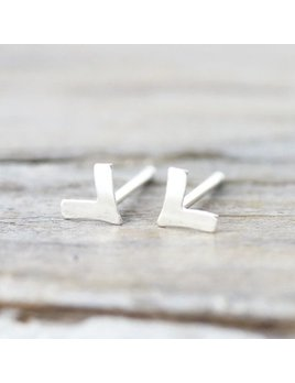Le Cubicule Small chevron earrings