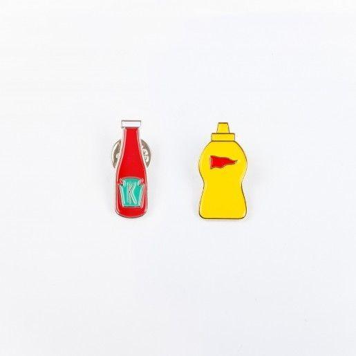 Drake General Store Ketchup + Mustard Enamel Pin Set
