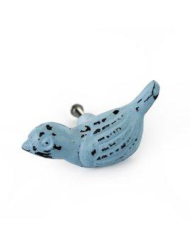 Indaba Powder blue Bird Knob