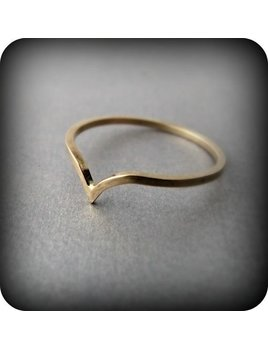 Le Cubicule Gold Chevron Ring