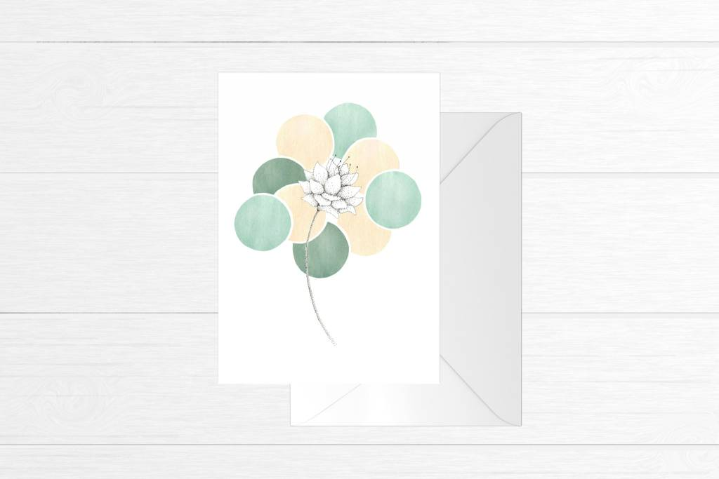 Fla Fla Bohemian Flower Greeting Card